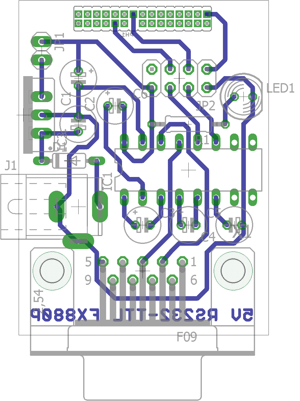 A rs232 ttl adapter for vintage fx casio calculators and other board layout ccuart Choice Image