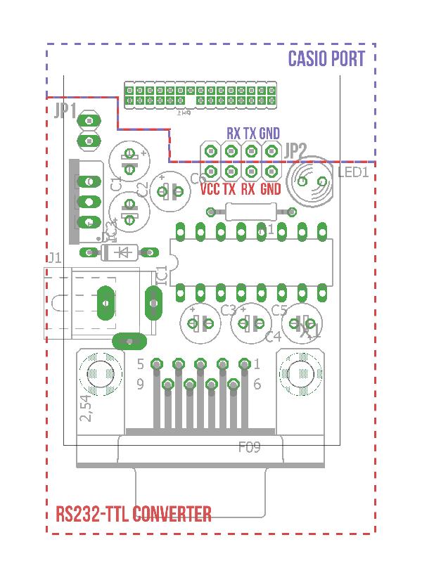 Casio Adapter Layout